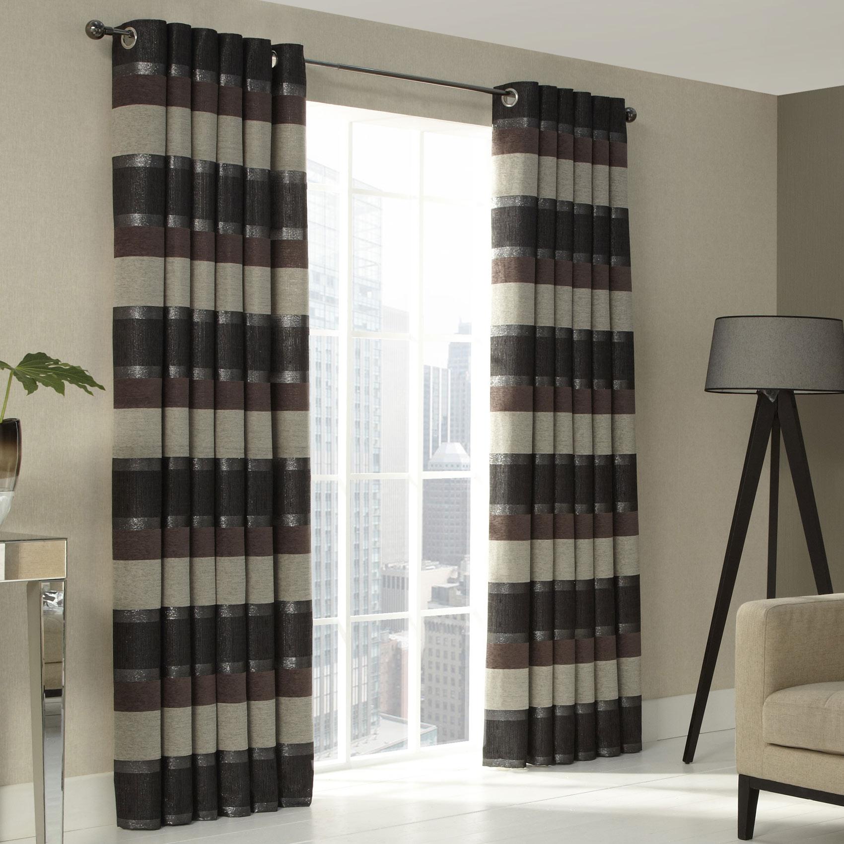 Iliv Stria Eyelet Curtains