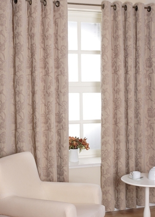 Sienna Taupe Eyelet Curtains