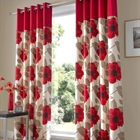 harper red lined curtains