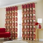 Lana red Lined Curtains