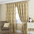 Emile plum lined curtains