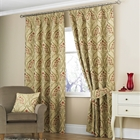 Emile Red Lined Curtains